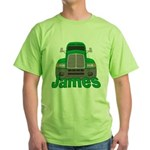 Trucker James Green T-Shirt