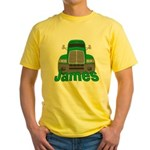 Trucker James Yellow T-Shirt