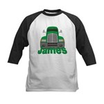 Trucker James Kids Baseball Jersey