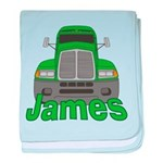 Trucker James baby blanket