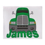 Trucker James Throw Blanket