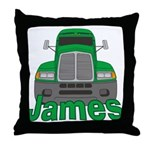 Trucker James Throw Pillow