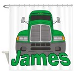 Trucker James Shower Curtain