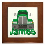 Trucker James Framed Tile