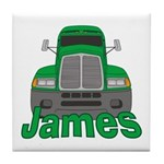 Trucker James Tile Coaster