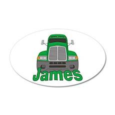 Trucker James 38.5 x 24.5 Oval Wall Peel