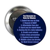 "Obama's Accomplishments 2.25"" Button"