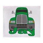 Trucker Jay Throw Blanket