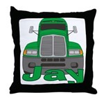 Trucker Jay Throw Pillow