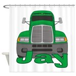 Trucker Jay Shower Curtain