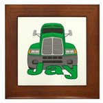 Trucker Jay Framed Tile