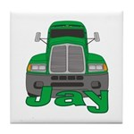 Trucker Jay Tile Coaster