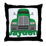 Trucker Jayden Throw Pillow