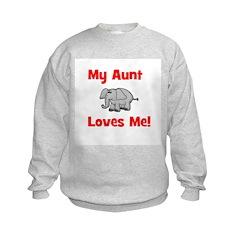 My Aunt Loves Me! w/elephant Kids Sweatshirt