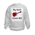 My Uncle Loves Me! w/guitar Kids Sweatshirt