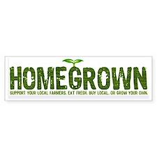 """""""Homegrown"""" Bumper Car Sticker"""