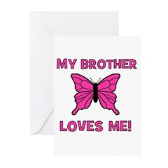 My Brother Loves Me! w/butter Greeting Cards (Pack