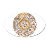 sacral orange second chakra mosaic circle 22x14 Ov