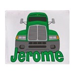 Trucker Jerome Throw Blanket