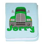 Trucker Jerry baby blanket