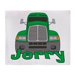 Trucker Jerry Throw Blanket