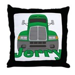 Trucker Jerry Throw Pillow
