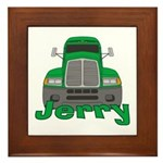 Trucker Jerry Framed Tile