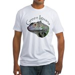 Green Iguana Fitted T-Shirt