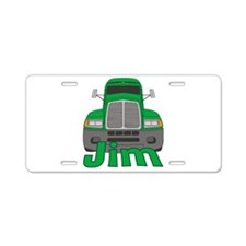 Trucker Jim Aluminum License Plate