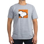 Fresh Orange Snoopy Men's Fitted T-Shirt (dark)