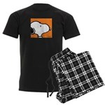 Fresh Orange Snoopy Men's Dark Pajamas