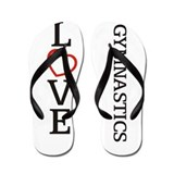 Big LOVE Gymnastics Flip Flops