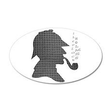 Sherlock Holmes - 38.5 x 24.5 Oval Wall Peel