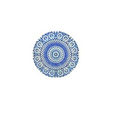 indigo blue third eye sixth chakra mosaic circle M