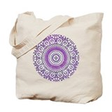 purple crown seventh chakra mosaic circle Tote Bag