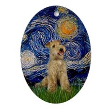 Starry Night Lakeland Terrier Oval Ornament