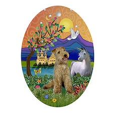 Lakeland Terrier Fantasy Oval Ornament