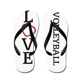 Big LOVE Volleyball Flip Flops
