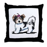 Biewer Yorkie Girl Throw Pillow