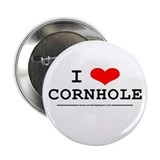 &quot;I Heart Cornhole&quot; Button