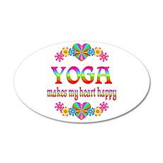 Yoga Happy 38.5 x 24.5 Oval Wall Peel