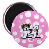 "Biewer Yorkie on Pink 2.25"" Magnet (10 pack)"