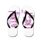 Love Volleyball Flip Flops