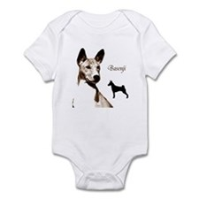 basenji art dog art on gifts Infant Creeper
