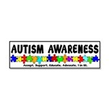 Aut Aware (Puzzle row) Car Magnet 10 x 3
