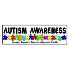 Aut Aware (Puzzle row) Bumper Sticker
