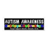 Aut Aware (Puzzle row) Dk Car Magnet 10 x 3