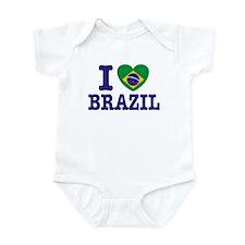 I Love Brazil Infant Creeper