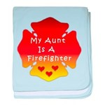 Firefighter Aunt baby blanket