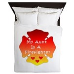 Firefighter Aunt Queen Duvet